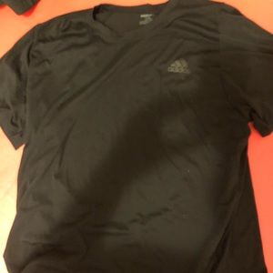 Adidas black freelift t shirt black